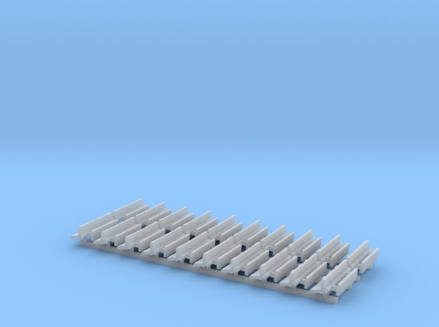 N Gauge Bench Seat Kit Type 4 in Smooth Fine Detail Plastic