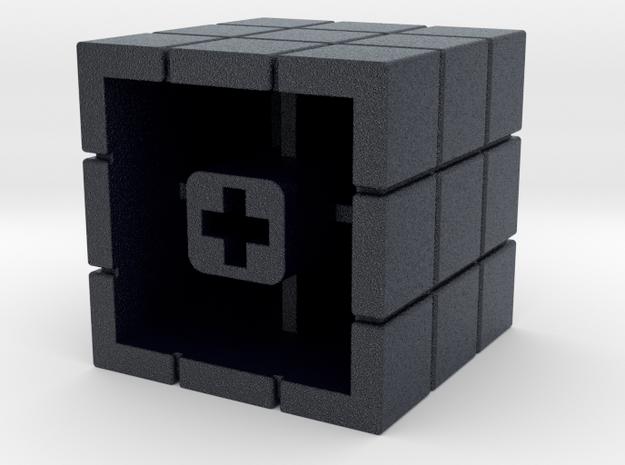 Artisan Cherry keycap Rubiks Cube in Black PA12
