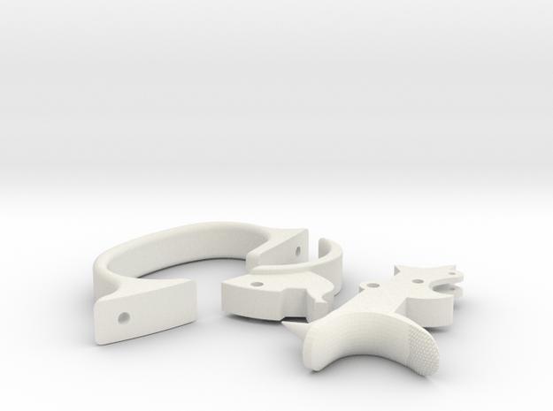 Webley Flaregun Trigger, Trigger Guard & Hammer in White Natural Versatile Plastic