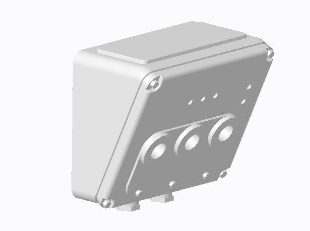 E-Anschlusskasten in 1:25 (2 Stück) in Smooth Fine Detail Plastic