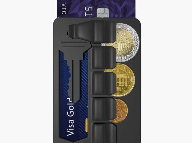 Zyko Wallet in Black Natural Versatile Plastic