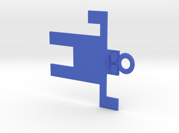Funky Keychain in Blue Processed Versatile Plastic