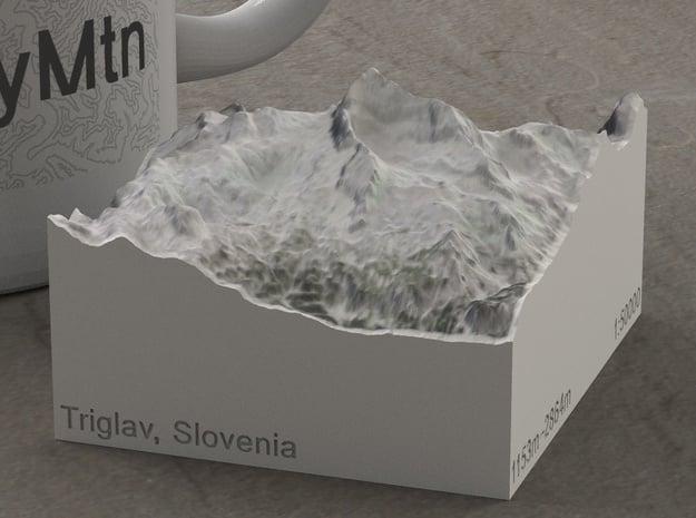 Triglav, Slovenia, 1:50000 in Natural Full Color Sandstone