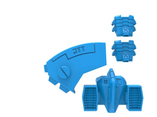 Tsunami Mobility Pack in Smooth Fine Detail Plastic