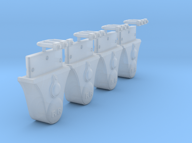 AB01 - Plain FR Axleboxes in Smooth Fine Detail Plastic
