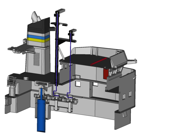 Apache fleet tug, gearbox for radar in White Processed Versatile Plastic