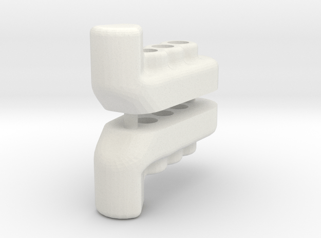 TC Wing Mount (nut) in White Natural Versatile Plastic
