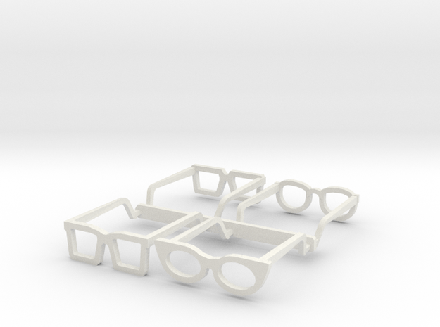 Eyeglasses in 1/10 in White Natural Versatile Plastic