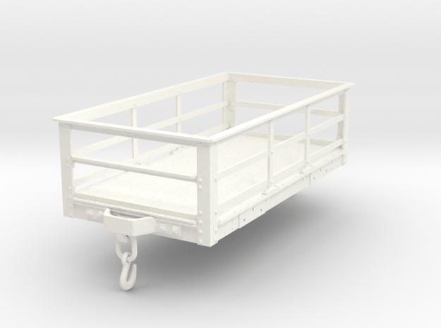 FRC01 FR 2 Ton Slate Wagon Body (Unbraked) SM32 in White Processed Versatile Plastic