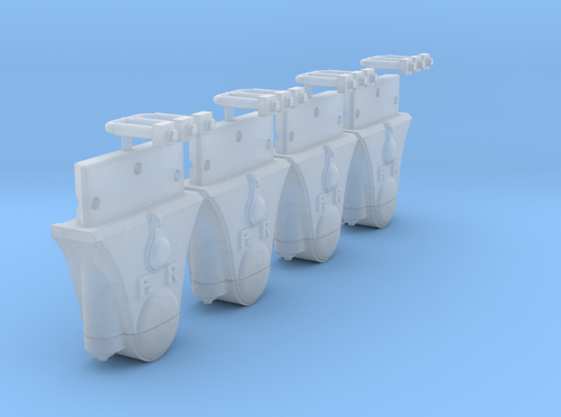 AB02 Split FR Wagon Axleboxes (SM32) in Smooth Fine Detail Plastic