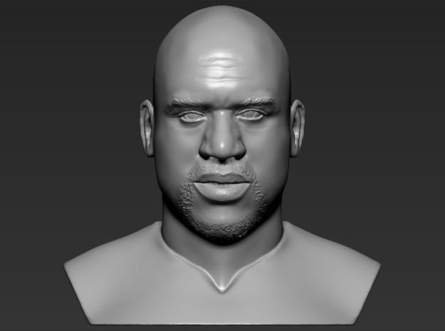 Shaq ONeal bust in White Natural Versatile Plastic