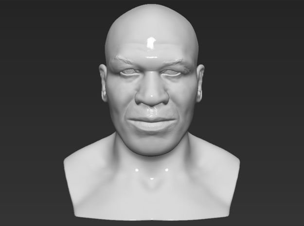 Mike Tyson bust in White Natural Versatile Plastic