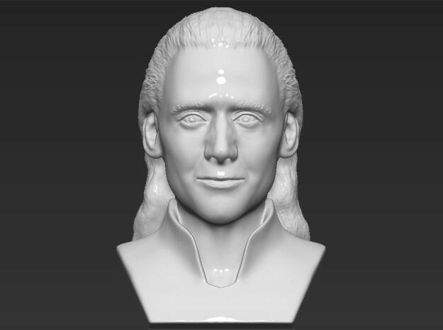 Loki bust in White Natural Versatile Plastic