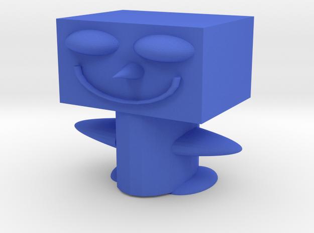 Crazy Dude in Blue Processed Versatile Plastic