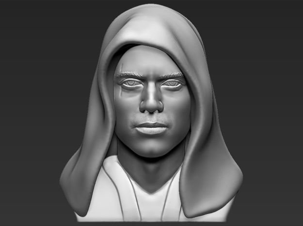 Anakin Skywalker bust from Star Wars in White Natural Versatile Plastic