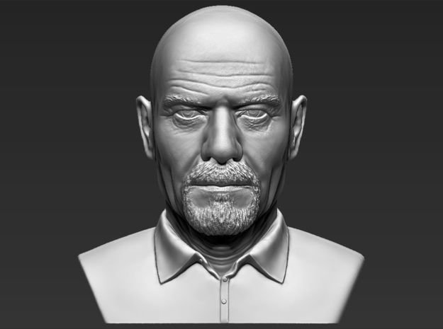Walter White from Breaking Bad bust in White Natural Versatile Plastic