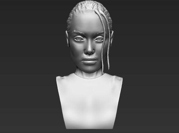 Lara Croft from Tomb Raider bust in White Natural Versatile Plastic