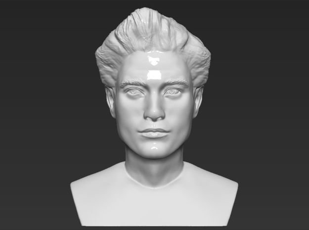 Edward Cullen from Twilight bust in White Natural Versatile Plastic