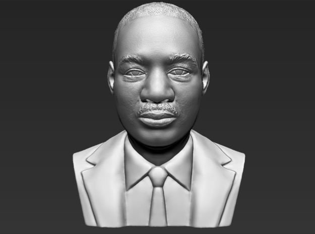 Martin Luther King bust in White Natural Versatile Plastic