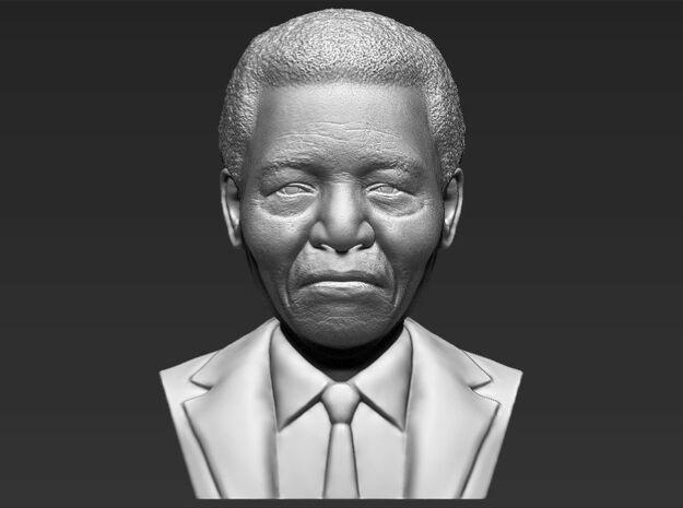 Nelson Mandela bust in White Natural Versatile Plastic