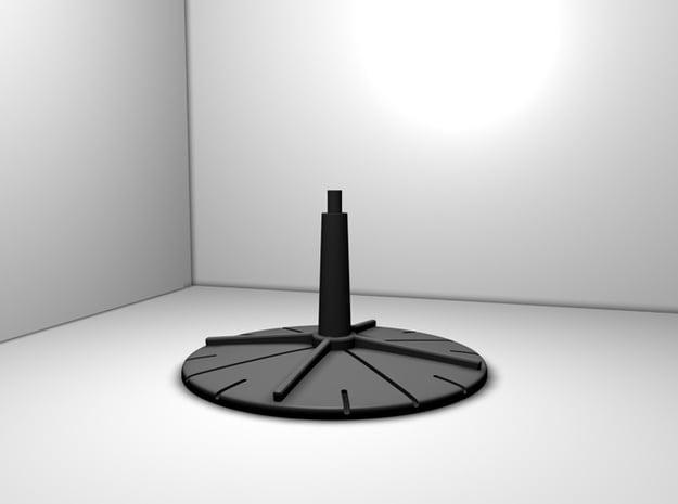 Base for Battleships in Black Natural Versatile Plastic