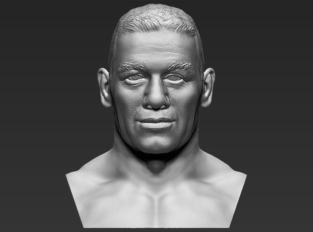 John Cena bust in White Natural Versatile Plastic