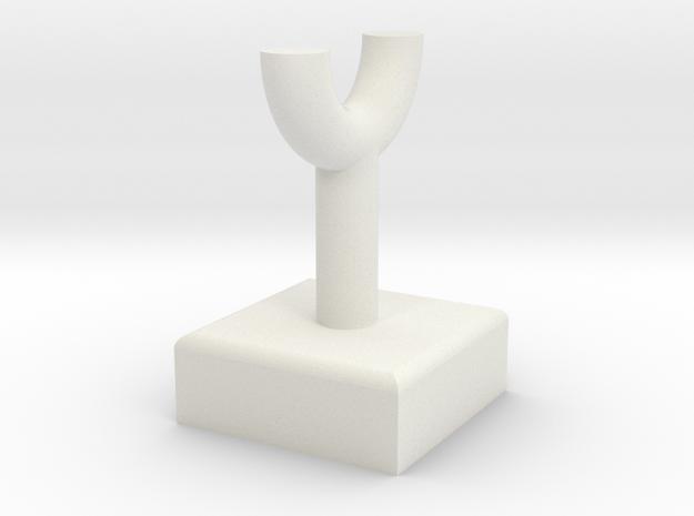 Pipe Pillar v1 #1 in White Natural Versatile Plastic