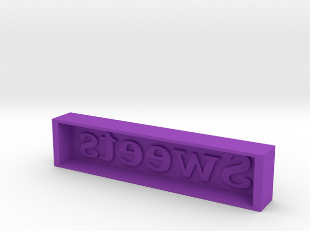 Sweeeeet Candy Mold in Purple Processed Versatile Plastic