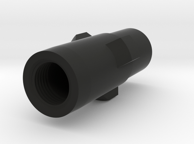 MP5 airsoft 3-Lug Adapter with thread for tracer in Black Natural Versatile Plastic