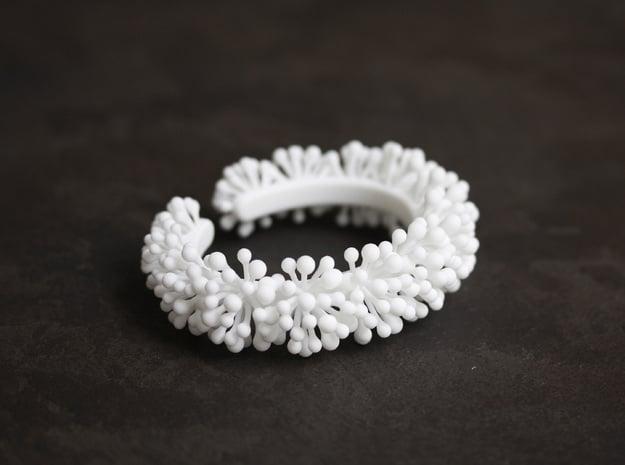 Snow Blossom Bracelet in White Natural Versatile Plastic