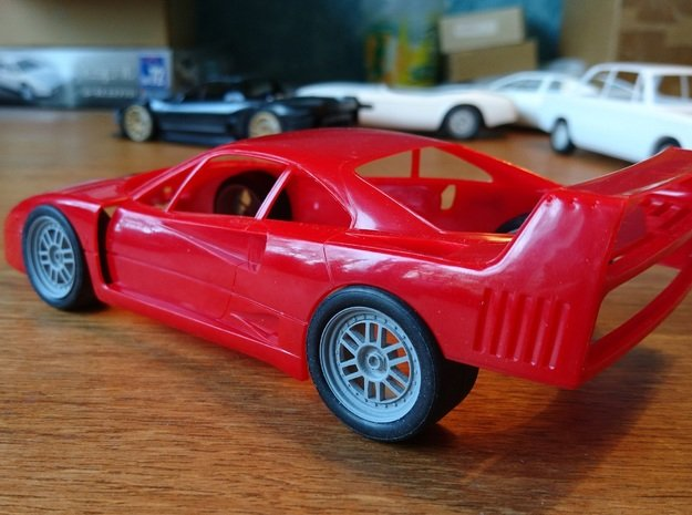 F40 GTE Enkei in Smoothest Fine Detail Plastic