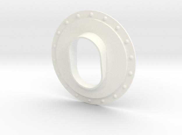 1.10 EC725 SMALL EXHAUST SYTEM in White Processed Versatile Plastic