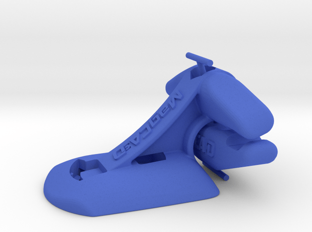 Wahoo Elemnt Bolt Saddle Mount - Track Cycling in Blue Processed Versatile Plastic