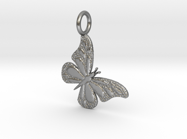 Butterfly NY side dip in Natural Silver