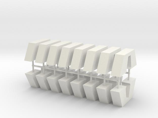 Aqueduct Pillar Pack in White Natural Versatile Plastic