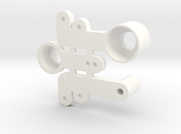 Reborn91, BELLCRANK PARTS in White Processed Versatile Plastic