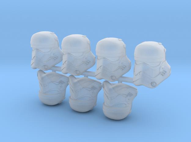 First Bucketheads (x7) in Smoothest Fine Detail Plastic