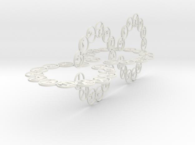 chain big 2mm in White Natural Versatile Plastic