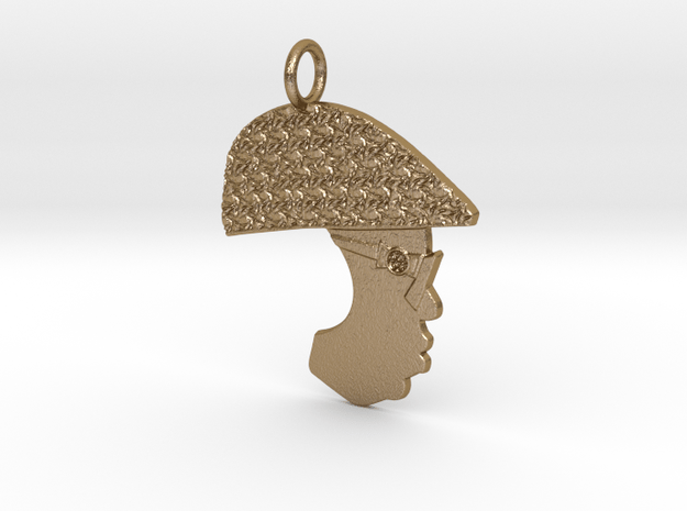 Notorious B.I.G.(Pro-File) in Polished Gold Steel
