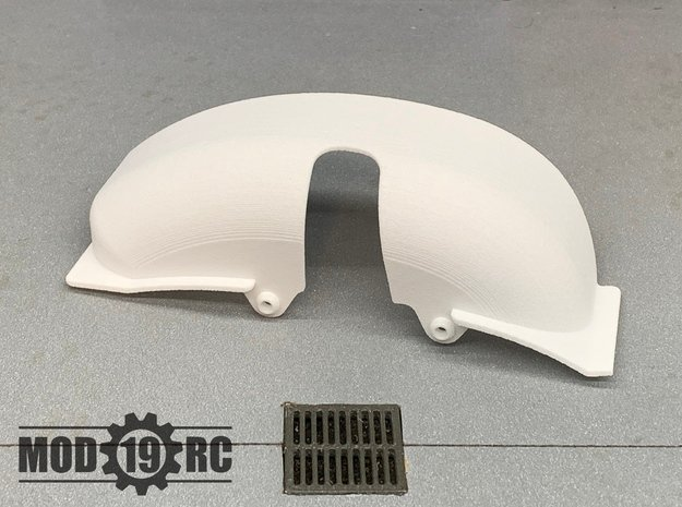 SCX10ii Right Inner Fender for Mojave II Body in Black Natural Versatile Plastic