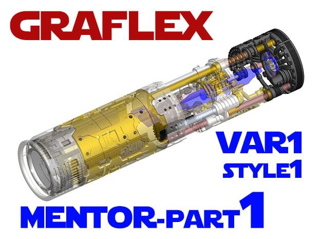 Graflex Mentor - Var1 Part01 - Energy channels S1 in White Natural Versatile Plastic