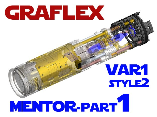 Graflex Mentor - Var1 Part01 - Energy channels S2 in White Natural Versatile Plastic