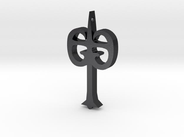 Black Iron Tarkus in Polished and Bronzed Black Steel