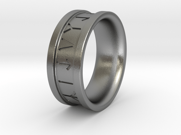 Rune Ring - Size 10 in Natural Silver