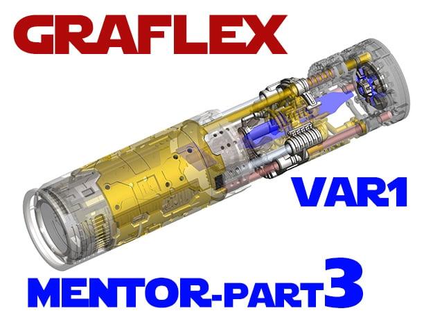 Graflex Mentor - Var1 Part03 - Power Gate in White Natural Versatile Plastic