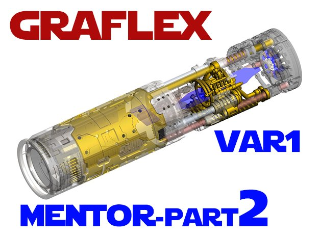 Graflex Mentor - Var1 Part02 - Crystal Chamber in White Natural Versatile Plastic