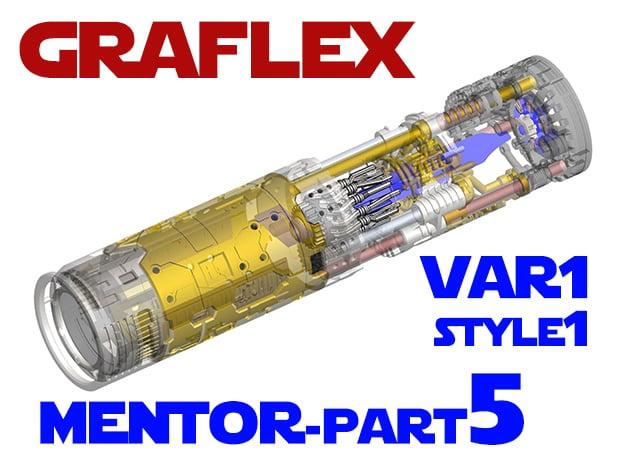 Graflex Mentor - Var1 Part05 - CyclingGen - Style1 in White Natural Versatile Plastic