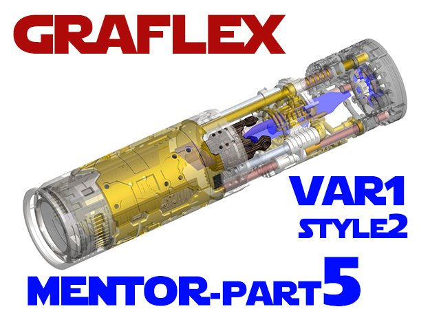 Graflex Mentor - Var1 Part05 - CyclingGen - Style2 in White Natural Versatile Plastic