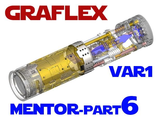Graflex Mentor - Var1 Part6 - Gen Gate 1 in White Natural Versatile Plastic