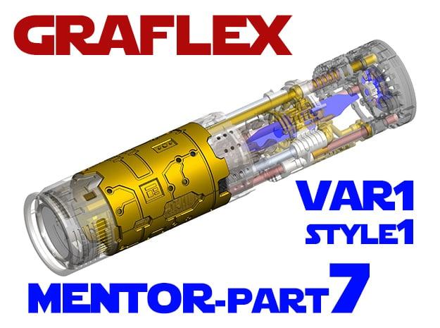 Graflex Mentor - Var1 Part07 - Plates - Style1 in White Natural Versatile Plastic